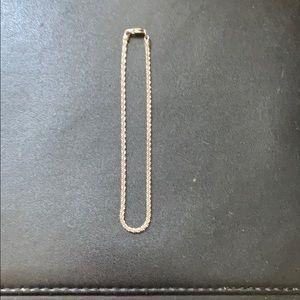 Sterling silver anklet